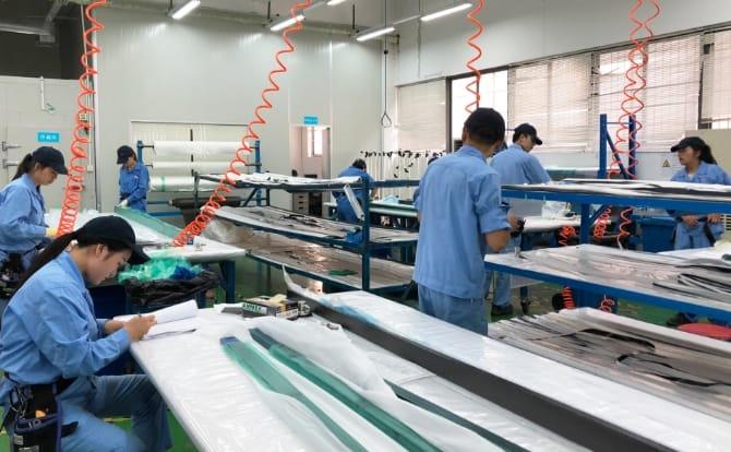 中国寧波工場の写真