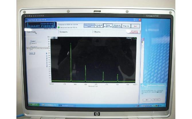 吸湿変形測定装置の写真