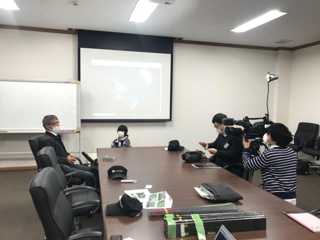 NHK取材の様子_はやぶさ2関連